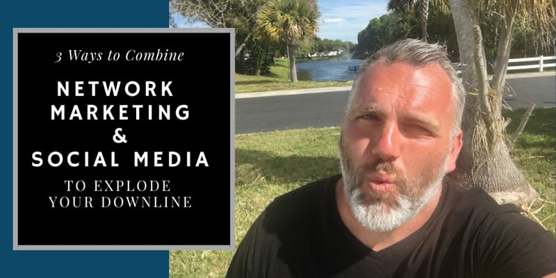 """Robb Corbett in Seminole Florida with a nice tan. He is standing in front of a lake with palm trees behind him. The title of the picture reads; """"Network Marketing and Social Media""""."""