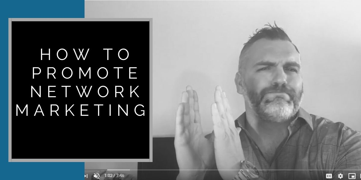 Robb Corbett training in his office on how to promote network marketing
