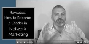 Picture of Robb Corbett in his office training on how to become a leader in network marketing